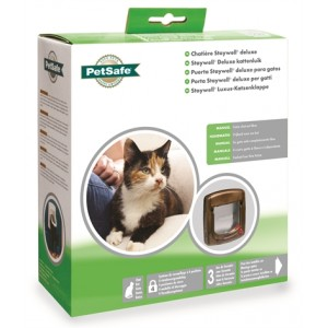 Staywell Manual Deluxe 4 Way Locking Kattenluik