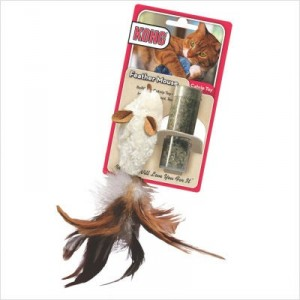 Kong Feather Mouse kattenspeelgoed