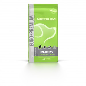 Euro Premium Medium Puppy Chicken & Rice hondenvoer