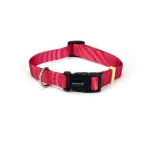 Beeztees Nylon Halsband Uni Roze voor de hond