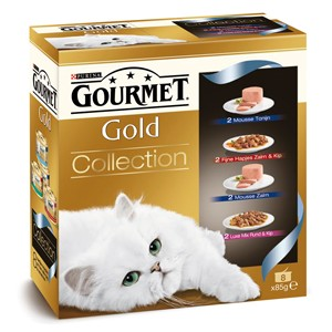 Gourmet Gold 8-Pack Collections kattenvoer