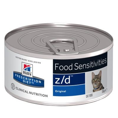 Hill's Prescription Z/D Food Sensitivities kattenvoer 156 g blik
