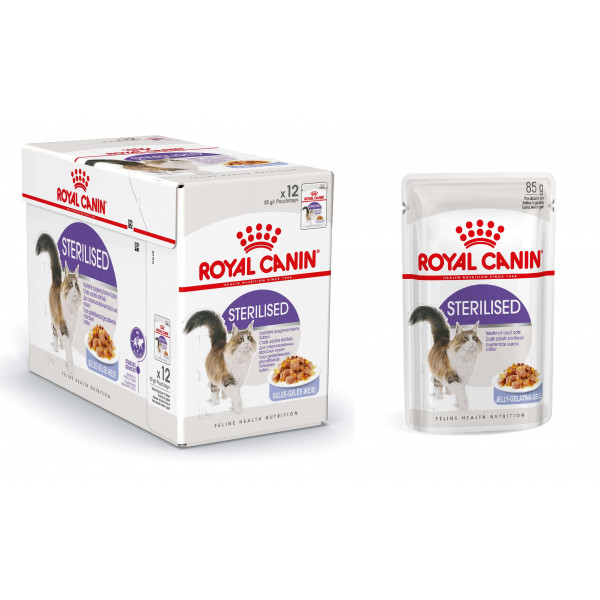 royal canin pouch sterilised kattenvoer bij. Black Bedroom Furniture Sets. Home Design Ideas