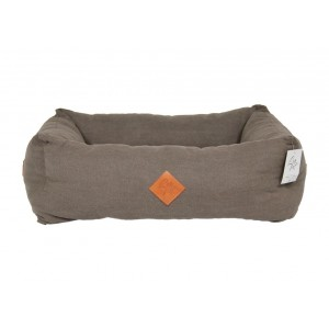 Elba hondenmand grijs/bruin (taupe)