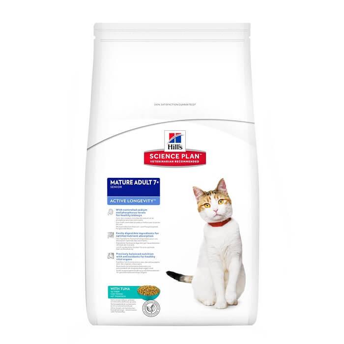 Hill's Mature Adult 7+ Active Longevity Tonijn kattenvoer
