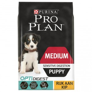 Pro Plan Optidigest Medium Puppy Sensitive Digestion Kip hondenvoer