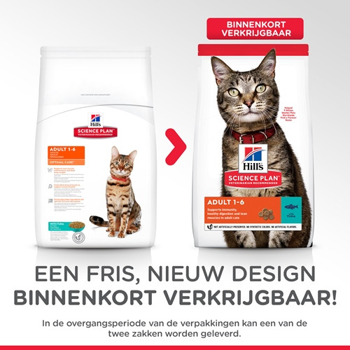 Hill's Optimal Care Adult Tonijn kattenvoer