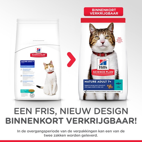 Hill's Mature Adult 7+ Active Longevity Tonijn kattenvoer