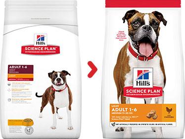 Hill's Adult Light Medium met kip hondenvoer