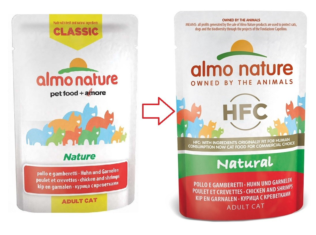 Almo Nature HFC Natural Kip & Garnalen 55 gr