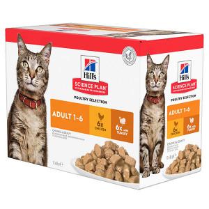 Hill's Adult Poultry Selection Pouch kattenvoer