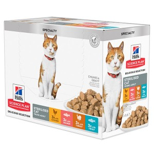 Hill's Young Adult Sterilised Cat Pouch Multipack