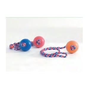 Massief rubberen bal aan touw voor de hond